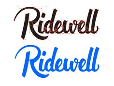 Ridewell logo by Angelo Walczak https://dribbble.com/AngeloWalczak #lettering #calligraphy #type #typography #logo #design #vector #brush #