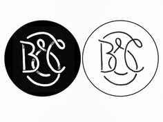 B & C / identity / stage 1 #lettering #white #black #monogram #and