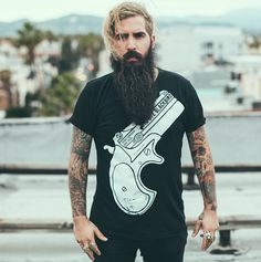 Triggerman: Trig Perez #graphicdesign #design #print #t-shirt #guns #tee #fashion