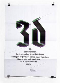 26plus-zeichen » Textrusion #fraktur #poster #typography
