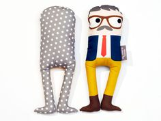 Jean Louis #glasses #toy #character #soft #simone #organic cotton