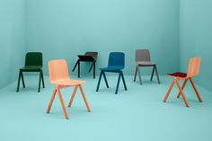 http://www.hay.dk/ #chair #design #wood #plywood #colour