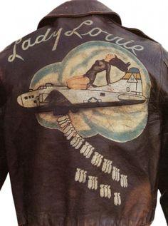 4_wwii bomber jacket art jacket_ladylorrie2 762x1024 #fashion