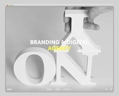 Ony Agency #website #layout #design #web