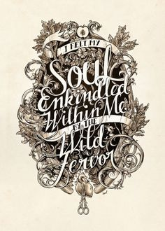 Soul Enkindled by `monavx on deviantART #typography