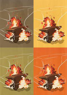 Numbers III on Behance #explosion #smash #impact #digital #illustration #anvil #drawing