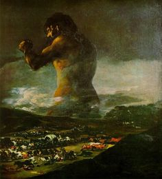 goya.colossus.jpg (882×970) #collosus #goya #painting