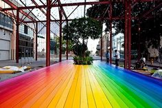 today and tomorrow #rainbow #boardwalk