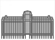 Building Architectural Illustration (mkn design - Michael Nÿkamp) #chicago #mart #merchandise #buliding