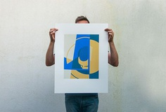 MIRRORMAN II - 3 color screen print