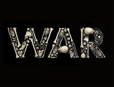 stop-the-war-bones-art.jpg 468×357 pixels #lettering #sculptural