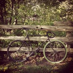 ghent.photos #green #bike #fixed gear #forest