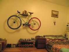 Handmade Bike Shelf (Urban City Bike Shelves) #interior #design #shelf #bike
