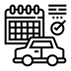See more icon inspiration related to car, calendar, plan, check, time and date, checkmark, electronics, schedule and vehicle on Flaticon.