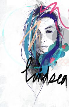 LINDSEA // on Behance #surfer #flevo #rosco #design #graphic #digital #illustration #billabong #fashion #lindsea