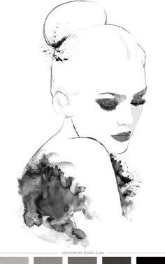 . #white #black #illustration #and #fashion
