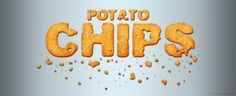 Potato chips Photoshop style