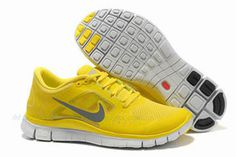 Mens Nike Free Run 3 YellowReflective Silver Shoes #shoes