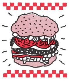 Design Envy · Mikey Burton's Experimental Food Illustration Blog, Barrel Body #mikey #burger #food #illustration #burton