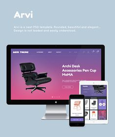 Arvi. Free PSD on Behance #flat #psd #free #portfolio #store #blog