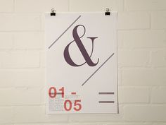 Craig Scott - Graphic Design & Art direction #ampersand #type #poster #typography