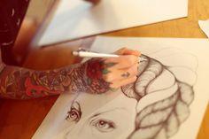Tumblr #draw #hand #tattoo #arm #pencils #drawing