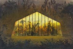 Jeremy Miranda Print 2, Greenhouse in the Woods | Little Paper Planes #house #miranda #woods #jeremy #green