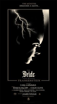 Mondo: The Archive | Olly Moss The Bride of Frankenstein, 2012 #movie #poster