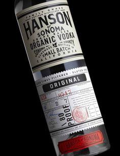"Stranger & Stranger  |  http://strangerandstranger.com""The Hanson Family, Californian through and through, have built a distillery in S #packaging #label #wine #baller"