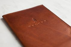 Oxlot 9 restaurant identity - check holder #branding #restaurant #check #identity #leather #oxlot #logo #holder