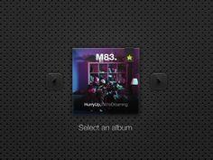 Dribbble - Dark Spotify Widget by Ben Bate #album