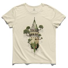 #galata - hurst #beige #tee #tshirt #galata #istanbul #tree #timburton #leaf #brick #watercolor