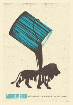 Andrew Bird : Garrett Karol #gigposter #design #screenprint #poster