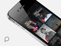 Pokke.me — Conversations #flat #messages #design #trifonov #app #minimal #ios #dimo
