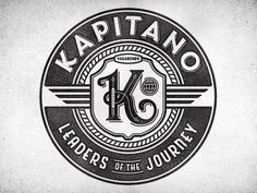 Dribbble - El Kapitano Cut by Richie Stewart #mark #lettering #herald #seal #logo #typography