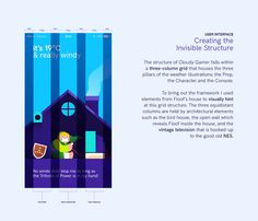 CLOUDY GAMER - Weather App Illustration & Animation on Behance