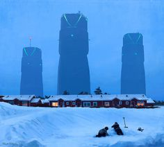 Simon Stålenhag Art Gallery #sweden #fi #sci #simon #illustration #stlenhag