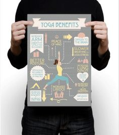Yoga Benefits Infographic #print #infographic #illustration #poster #layout #yoga