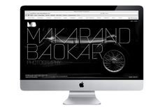 Makarand Baokar Photography Website on the Behance Network http://makarandbaokar.com/ #interactive #shtml #print #design #black #clean #website #photography #identity #gray #web #foil