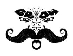 Grow that Mo!!! #white #typography #black #hair #grow #illustration #and #man #face #anger #moustache