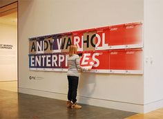 Indianapolis Museum of Art Title Graphic and Poster #gallery #andy #off #museum #indianapolis #tear #warhol #exhibition #poster #graphics