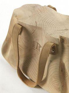 Italian handbag reimagined as a stool. #italian #wood #furniture #desing
