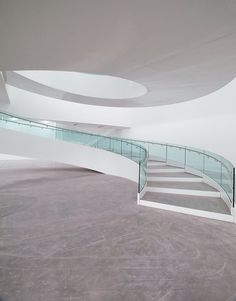 CJWHO ™ (Villa Méditerranée by Stefano Boeri Architetti) #water #france #office #design #interiors #glass #photography #architecture #stairs #marsaille