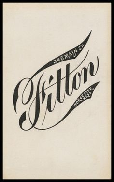 Logos / logo, type #graphic design #vintage #identity #script #blackwhite #tail #mass