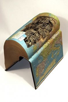 Insane art formed by carving books with surgical tools - Karan Arora's Posterous