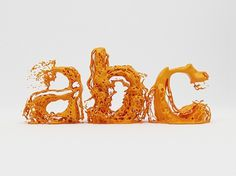 Type Fluid Experiment - mashKULTURE #fluid #typography