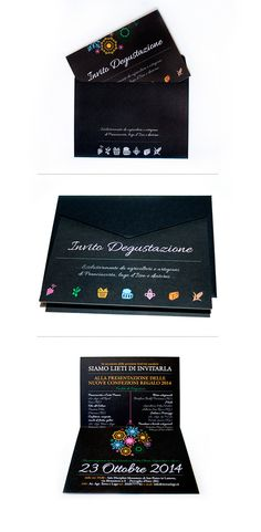 Invitation / Envelope #beverage #invitation #food #christmas #ideas #envelope #drinks #communication #italy #brochure #coordinated