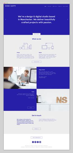 Nine Sixty #website #webdesign #portfolio #blue