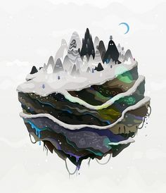 winter mountains | Flickr - Photo Sharing! #zutto #illustration #mountains #winter