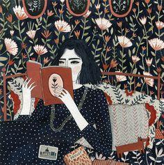 reading (print) #illustration #ybryksenkova